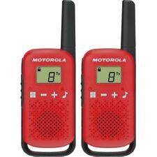 Motorola T42 Talkabout Rot PMR-Funkgerät 6 PMR-Kanäle bis 4 km Reichweite