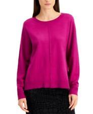 $66 High-Low Dolman-Sleeve Sweater Purple Size 1X