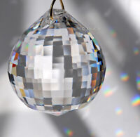 30mm Asfour Sphere Crystal Clear Disco Ball Prism SunCatcher Feng Shui 1-1/8 in