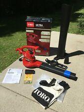 **Toro Ultra Leaf Blower Vacuum Mulcher 250 MPH 350 CFM Electric 12 Amp debris
