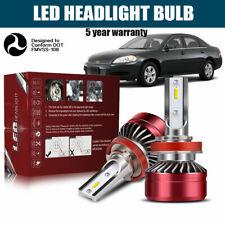 H11 H8 H9 LED Headlight Bulbs Kit Low Beam Bright 60W 12000LM 6000K White DWI