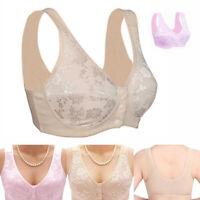 Women Wireless Bras Lingerie Front Close T-back Nursing Bra Underwear Plus Size