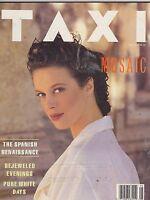 MAY 1989 TAXI vintage fashion magazine