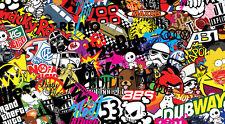 Nuevo Stickerbomb Hoja @ 200mm X 110 Mm (gratis Envío!!) Vw / Gasolina Solapa / Drift / Jdm