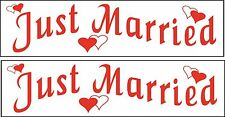 (2) Just Married Vehicle Car Magnetics Signs Wedding Bridal Party Magnet Gift