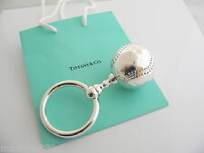 Tiffany & Co Silver One Sided Baseball Baby Rattle Teether Rare Vintage Heirloom