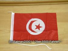 Fahnen Flagge Tunesien Bootsfahne Tischwimpel - 30 x 45 cm