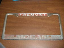 Fremont CA Oldsmobile Dealership License Plate Frame Metal Tag Holder Embossed