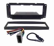 Radio Replacement Dash Mount Kit 1-DIN w/Harness/Antenna for Chrysler/Dodge/Jeep