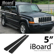 "Silver Steel 90 Degree Bend 3/"" Wide Step Running Board For 06-10 Jeep Commander"