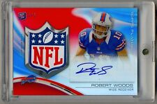 2013 Topps Platinum Rookie Red Refractor Robert Woods RC Shield Patch Auto 1/1