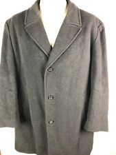 Mens Ralph Lauren Cashmere Coat Sz XL Black Jacket Made in Italy Long Top Coat