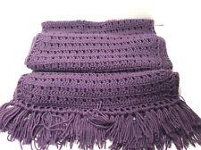 Women's Purple Handmade Knitted  Shawl Wrap 64 x 14 New
