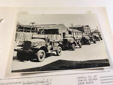 International Harvester 4x4 WWII 1940s Photo Truck Marine Original M-1-4 M-2-4