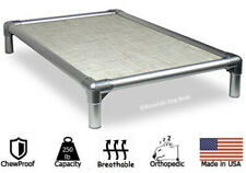 Kuranda All-Aluminum Dog Bed - Open Weave Fabric - Snow