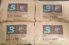 (4) Boveda 69% Packs 2-Way Humidor Control Large 60 gram Sealed Packets