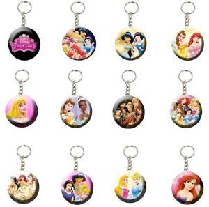 """Disney Princess 2.25"""" Backpack Keychains Party Favors Giveaways 12 pcs (1 Dozen)"""