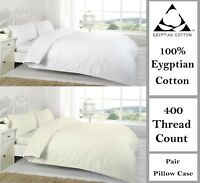 400 Thread Count Duvet Covers Set Egyptian Cotton Single Double Super King Size