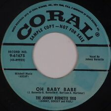 "JOHNNY BURNETTE TRIO: Oh Baby Babe US Coral Rockabilly Promo 7"" 45 MP3"