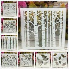 8Pcs/Set Tree Leaf Gingko Layering Stencils Painting Scrapbook Coloring Embossin