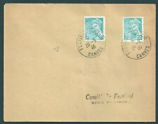 Genuine postal cover from the First ever Cannes film festival    20th Sept 1946