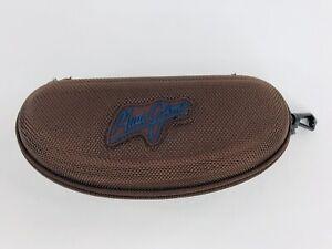 Maui Jim Brown Zip Clamshell Sunglasses Eyeglass Semi-Hard Case Belt Hook Clip