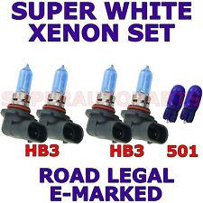 FORD PUMA 1997-2001  SET HB3 HB3 501 SUPER WHITE  XENON LIGHT BULBS