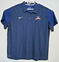 Nike USA Hockey Mens National Team Olympics Polo Team Issued 2XL XXL Dri-Fit