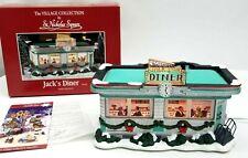 St Nicholas Square Christmas Village Lighted House Jacks Diner Snow Wreaths
