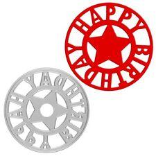 Happy Birthday Metal Cutting Dies Stencil Scrapbook Album Paper Embossing Craft
