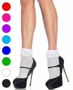 Crochet Heart Lace Top Anklet Socks - Leg Avenue 3033
