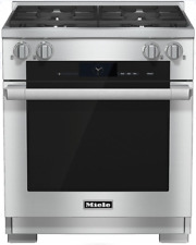 Miele Hr1924-2Dflp M-Touch 30 Inch Dual-Fuel Range in Stainless Steel