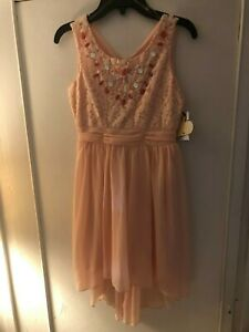 JCPENNEY SPEACHLESS BEADED GIRLS DRESS - PINK - SIZE 10