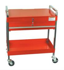 Sunex Service Cart Steel Red 35.3 in. Height 30 in. Length 16 in. Width Each
