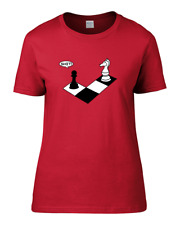 CHECK MATE - knight and pawn funny chess player Women's T Shirt