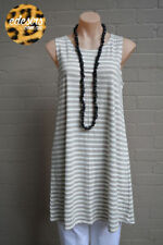 Tunic Machine Washable Striped Sleeveless Tops for Women