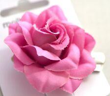 NUOVO 4cm Light in Tessuto Viola Rosa Fiore Rosa forchetta per capelli Clip Fashion da donna