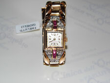 OROLOGIO BUCHERER ORO DIAMANTI RUBINI VINTAGE DIAMOND WATCH GOLD RUBY