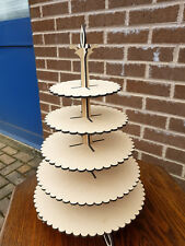 """STUNNING 5 TIER CUPCAKE STAND"" - 452mm x 282mm x 4mm"