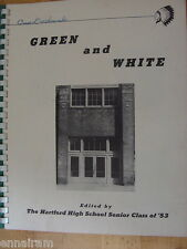 1953 Hartford High School Michigan Yearbook Green & White