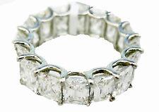 DIAMOND SIXTEEN RADIANT SHAPE DIAMOND ETERNITY BAND 78 POINTERS DIAMOND BAND