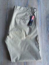 Diesel Pantalone Katoni Trousers W38 L28 Khaki Tan/Beige 100% Cotton Linen