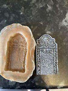 Mini Tomb Stone rubber latex Mould Mold casting crafts RIP grave Stone Gothic