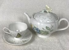 Lenox Butterfly Meadow Teapot China Mint Condition Including a Cup and Saucer
