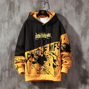 Mens Baggy Hoodie Fashion Sweater Casual Hooded Coat Hip Hop Sweatshirt