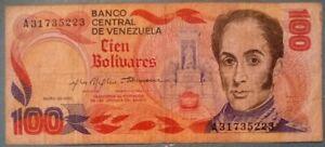 VENEZUELA 100 BOLIVARES COMMEMORATIVE NOTE ISSUED 29.01. 1980, P 59,