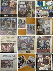 Tom Brady Tampa Bay Buccaneers Super Bowl LI/ AFC Champion Newspaper Varieties