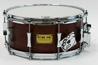 Pork Pie Percussion 6.5x14 Snare Drum, 5-Ply Hickory Fiddleback, Rosewood Satin