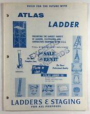 Atlas Ladder Co Vintage Illustrated Catalog Brochure Ladders Staging Scaffolding