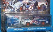 HOT WHEELS Pit Crew #06 Mark Martin Ford Taurus Pro Racing Rubber Tires Nascar